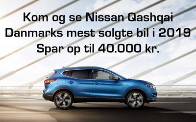 Nissan QASHQAI bedst sælgende i 2019 – Spar 40.000 før det er for sent