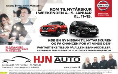 Nissan: Kom til Nytårskur i weekenden 4-5 januar klokken 11-15